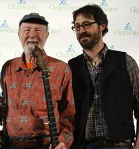 Pete Seeger and Tao Seeger at the Clearwater Benefit Concert celebrating Pete Seeger's 90th Birthday.