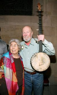 Toshi Seeger and Pete Seeger at the memorial celebration of Odetta.