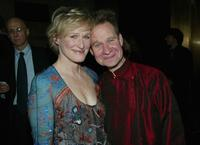 Glenn Close and Peter Sellars at the Risk-Takers In the Arts honors Benefit.