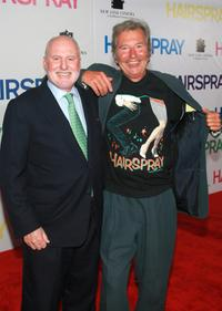 Michael Lynne and Robert Shaye at the premiere of