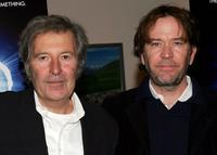 Robert Shaye and Timothy Hutton at the premiere of