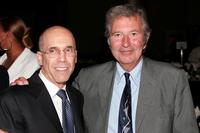 Producer Jeffrey Katzenberg and Robert Shaye at the Wiesenthal Center Tribute Dinner.
