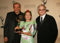 Leslie Caron, Dick Wolf and Neal Barnes at the 2007 Creative Arts Emmy Awards.