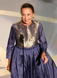 Leslie Caron at the 59th Annual Primetime Emmy Awards.