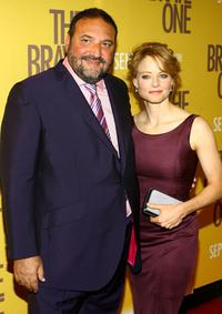 Joel Silver and Jodie Foster at the premiere of