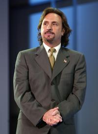 Ron Silver at the evening session of day one of the 2004 Republican National Convention at Madison Square Garden in New York City.