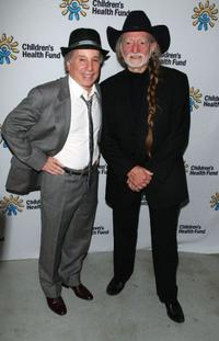 Paul Simon and Willie Nelson at the Children's Health Fund benefit.