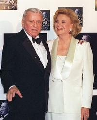 Frank Sinatra and his wife Barbara at the star studded event to honor his 80th birthday at the Shrine Auditorium.