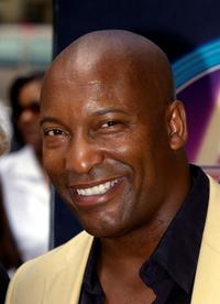 John Singleton at the ceremony honoring him with a star on the Hollywood Walk of Fame.