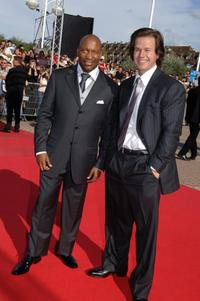 John Singleton and Mark Wahlberg at the screening of