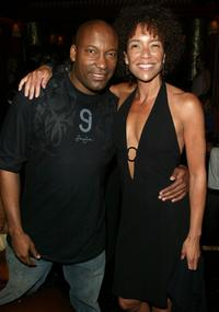 John Singleton and Stephanie Allain at the after party for screening of