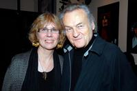 Marian Masone and Jerzy Skolimowski at the 46th New York Film Festival directors party.