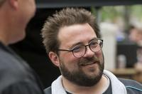Director Kevin Smith on the set of