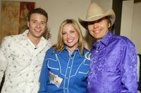 Lance Smith, Juliette Ryan and Dwight Yoakam at the NBC Studios in California.