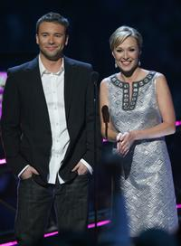 Lance Smith and Katie Cook at the 2008 CMT Music Awards.
