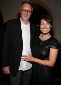 Lee Smith and Guest at the Australian Academy Award Nominee and the Australians in Film Heath Ledger Scholarship reception.
