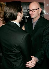 Steven Soderbergh and Tobey Maguire at the premier of the film