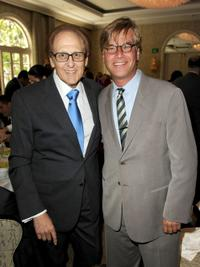 Philip Berk and Aaron Sorkin at the Hollywood Foreign Press Association's Installation Luncheon.