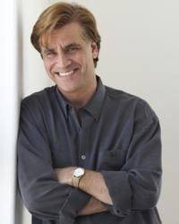 Screenwriter Aaron Sorkin on the set of