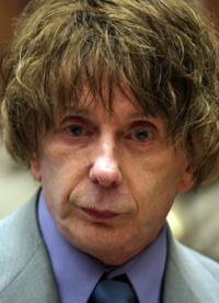 Phil Spector at the Superior Court in Los Angeles.