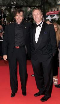 Robert Carradine and his brother David Carradine at the premiere of