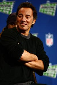 Bruce Springsteen at the Bridgestone Super Bowl XVLII Half Time Show Press Conference.
