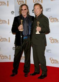 Mickey Rourke and Bruce Springsteen at the 66th Annual Golden Globe Awards.