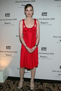 Isabelle Carre at the Cesar Awards nominee dinner.