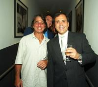 Tony Danza and Frank Stallone at the Frank Stallone's CD Listening and Release party.
