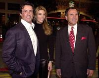 Sylvester Stallone, Jennifer Flavin and Frank Stallone at the premiere of