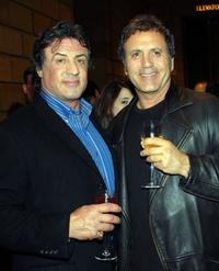 Sylvester Stallone and his brother Frank Stallone at the afterparty for the premiere of