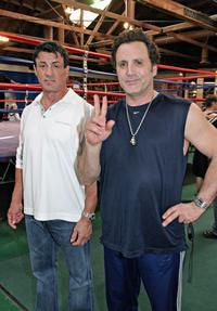 Sylvester Stallone and his brother Frank Stallone at the Casting Call of