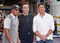 Sugar Ray Leonard, Frank Stallone and Sylvester Stallone at the Casting Call of