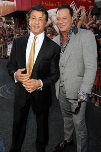 Sylvester Stallone and Mickey Rourke at the premiere of