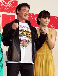 Sylvester Stallone and Haruka Ayase at the Japan premiere of