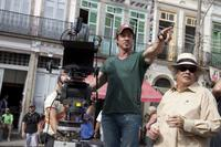 Actor/director/screenwriter Sylvester Stallone and Jeffrey Kimball on the set of