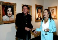 Barbara Carrera and Nolan Miller at the museum premiere of her paintings of Hollywood Legends.