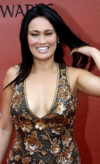 Tia Carrere at the first International World Stunt Awards.