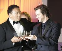 Jim Carrey and Muhammad Ali at the Celebrity Fight Night XII.