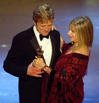 Barbra Streisand and Robert Redford's at the 74th Academy Awards.