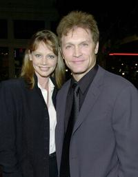 Robyn and her husband Andrew Stevens at the premiere of