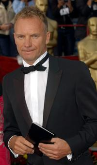 Sting at the 74th Annual Academy Awards.