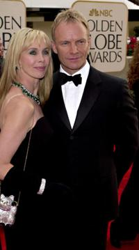 Sting and his wife Trudie Styler at the 58th Annual Golden Globe Awards.