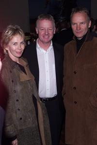 Trudi Styler, Les Dennis and Sting at the party of