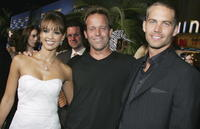 Jessica Alba, John Stockwell and Paul Walker at the premiere of
