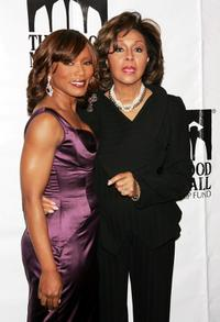 Diahann Carroll and Angela Bassett at the Thurgood Marshall Scholarship Funds annual dinner at the Sheraton New York Hotel.