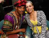 Rocky Carroll and Gabrielle Fuller at Jay D. Schwartz's birthday party.