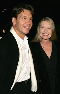 Patrick Swayze and Lisa Niemi at the Hallmark Channel's TCA Press Tour party.