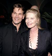 Patrick Swayze and Lisa Niemi at the premiere of