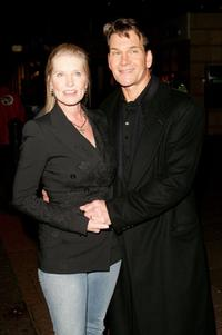 Lisa Niemi and Patrick Swayze at the UK premiere of